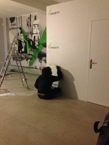 graffeur fresque murale entreprise