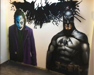 Graff batman et joker