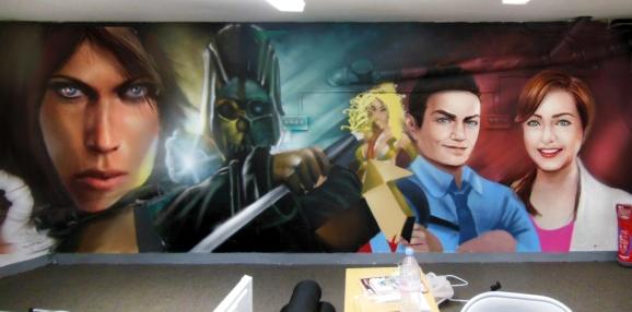 graff personnages jeu video