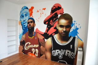 graff chambre basket ball tag