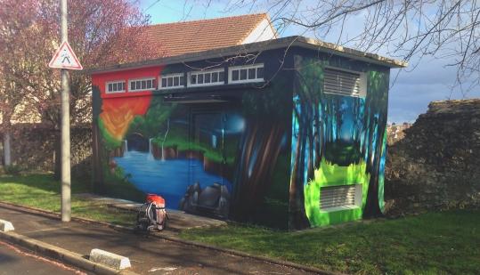 decoration murale transformateur électrique