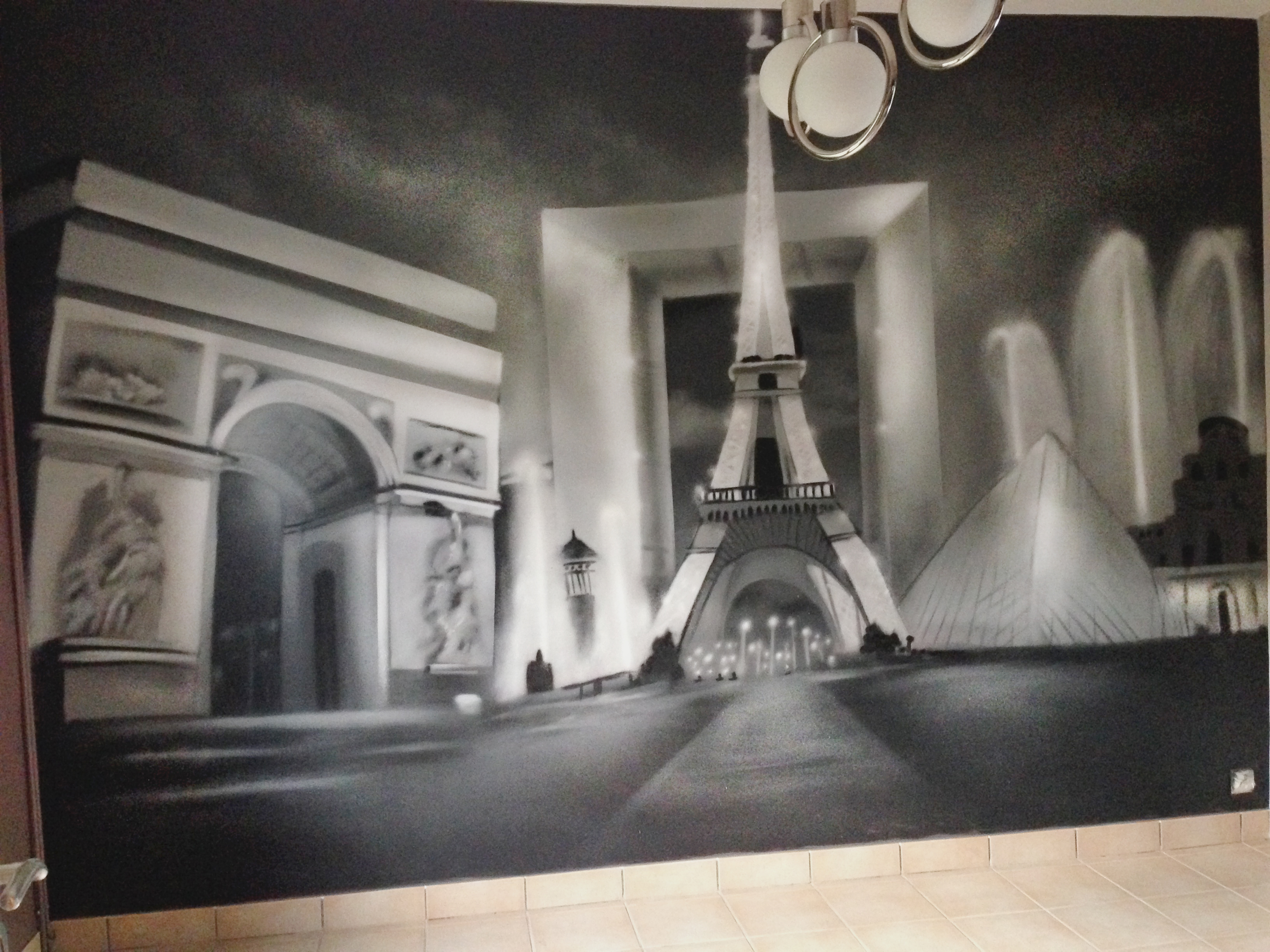 Paris medley decograffik deco graff bureaux entreprise for Photo salon dappartement