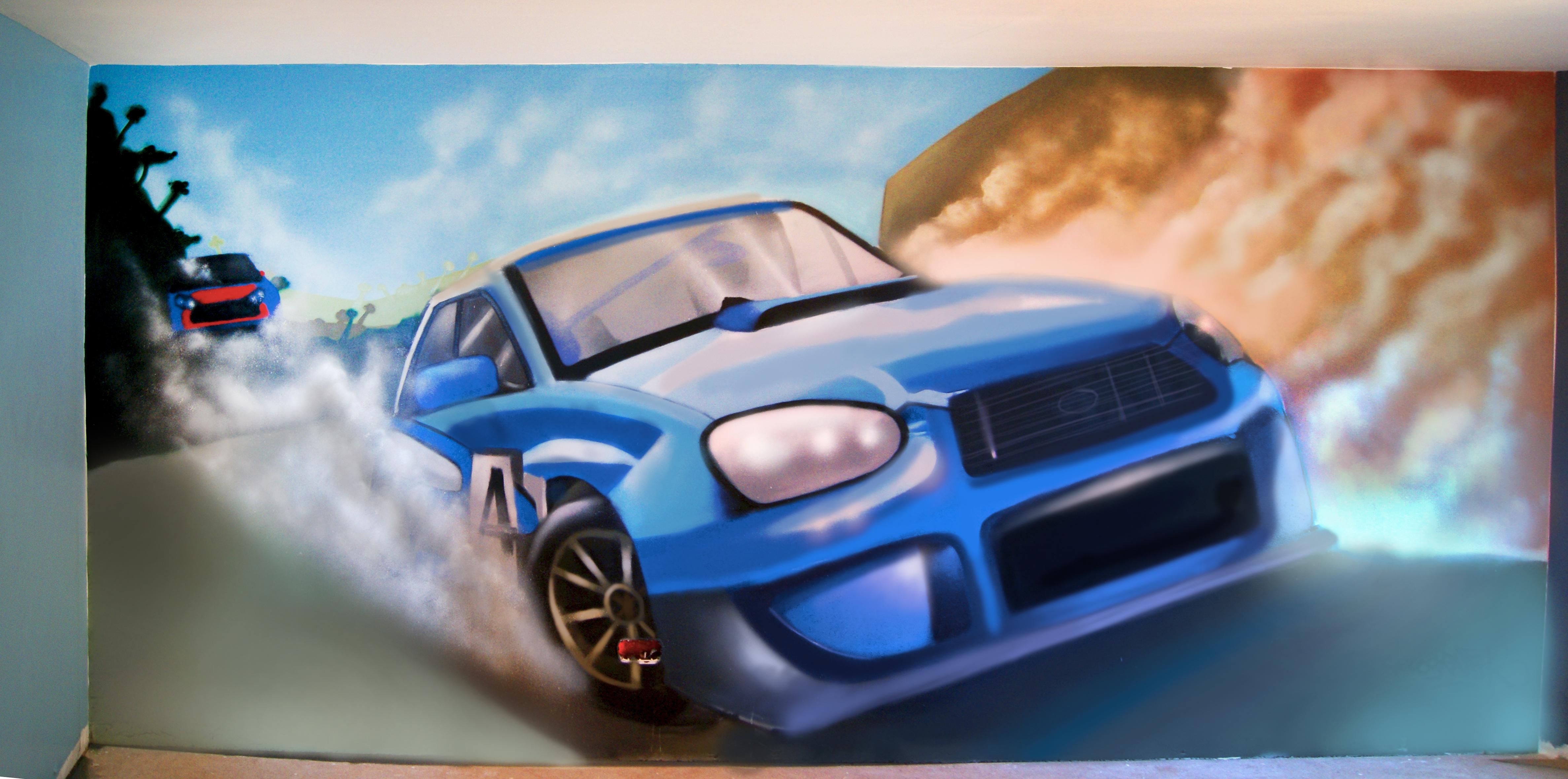 Decoration graff voiture de course decograffik deco for Interieur de voiture sur mesure