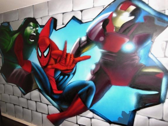 tag spiderman graff ironman graff hulk