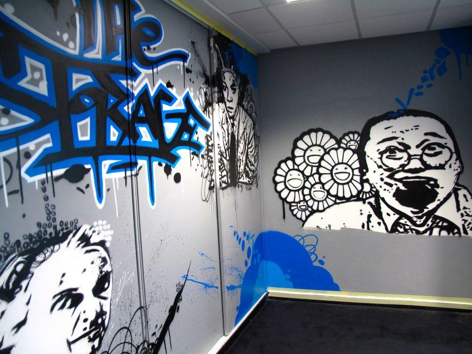 photos decograffik deco graff bureaux entreprise deco design mural hall d 39 accueil deco salle. Black Bedroom Furniture Sets. Home Design Ideas