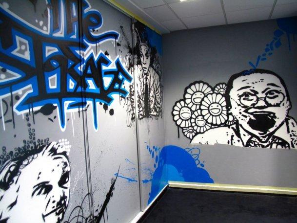 decoration murale tag
