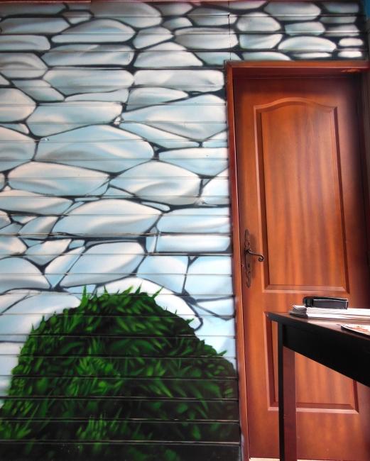 decoration murale trompe l'oeil