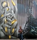 detail fresque murale grand format