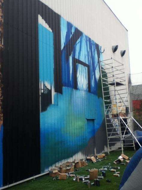 peinture fresque murale grand format
