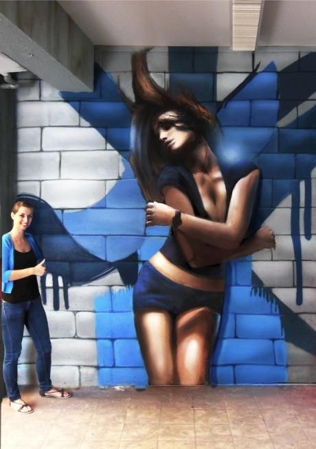 fresque murale danse zumba Paris