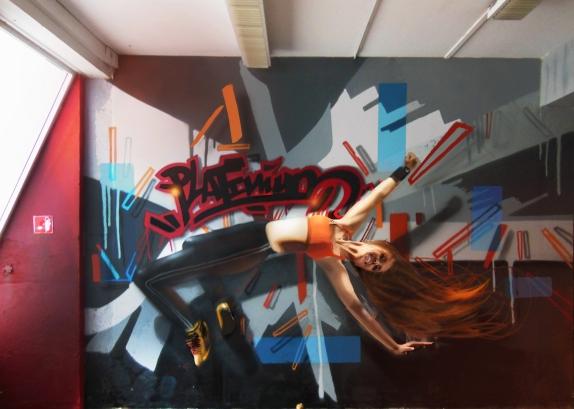 deco graff salle de sport cross fit MMA Mix martial art