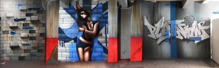 d co salle de sport fitness club decograffik deco graff fresque murale deco. Black Bedroom Furniture Sets. Home Design Ideas