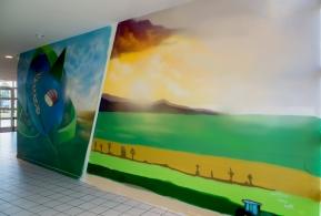 fresque murale chimie