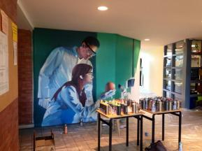 fresque murale realiste