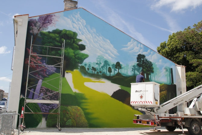 facade fresque murale