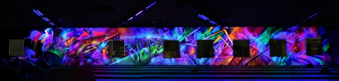 fresque deco fluo light painting