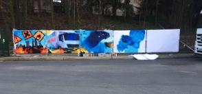 realisation fresque murale sur bache